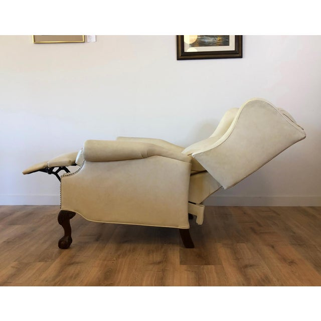 Leather Vintage Bradington Young Leather Wingback Recliner For Sale - Image 7 of 13