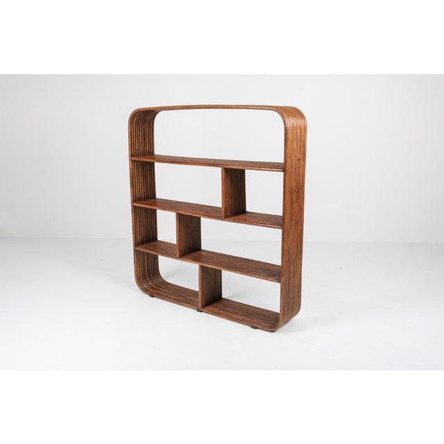 1970s Bamboo étagère Room Divider Henry Olko - 1970 For Sale - Image 5 of 9