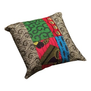 African Fabric Pillow