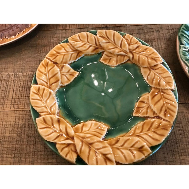 Leaf Style Dessert Plates - Set of 6 For Sale - Image 4 of 6