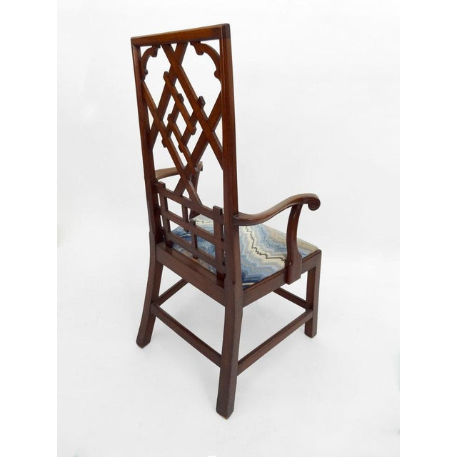 Not Yet Made - Made To Order High-back Diamond Fret Chair For Sale - Image 5 of 7