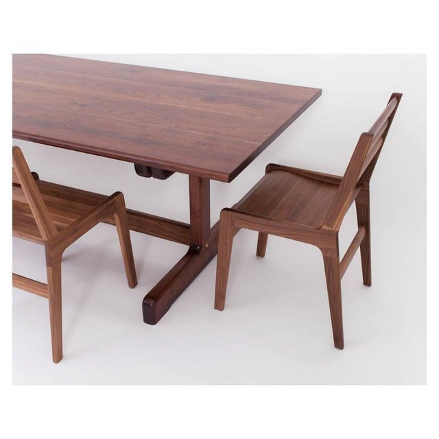 Asa Pingree Physalia Dining Table with Low Profile Foot in American Walnut For Sale In New York - Image 6 of 7