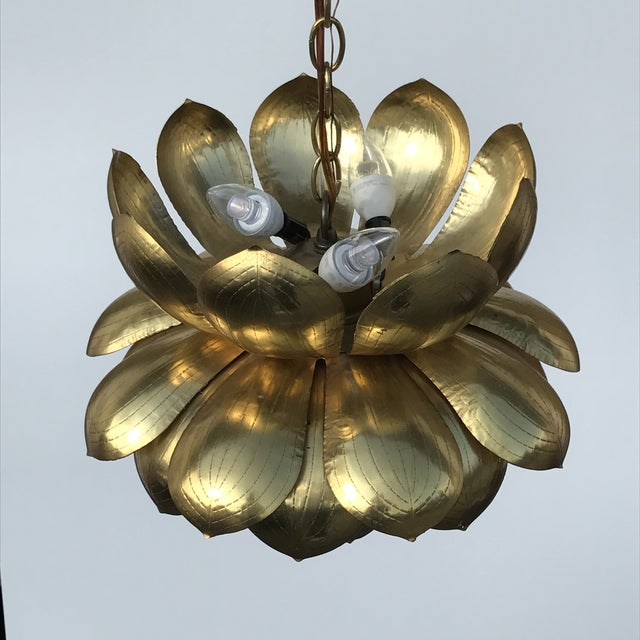 Feldman Brass Lotus Chandelier Lamp - Image 5 of 9