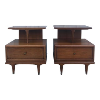 Mid Century Modern Nightstands by Kent Coffey - a Pair For Sale
