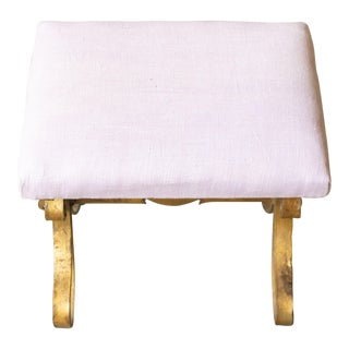 Small Gilt Iron Stool For Sale