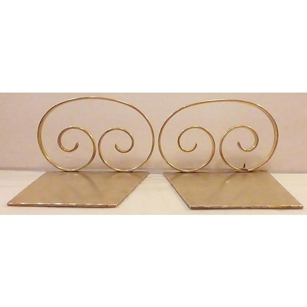 Solid Brass Bookends - A Pair - Image 4 of 6
