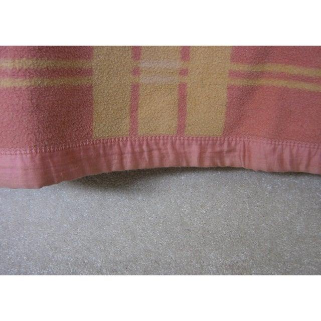 Vintage Pink & Orange Reversible Camp Blanket - Image 5 of 6