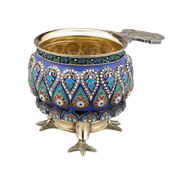 Late 19th Century Russian Enamel Vodka And Punch Service For Sale - Image 5 of 10