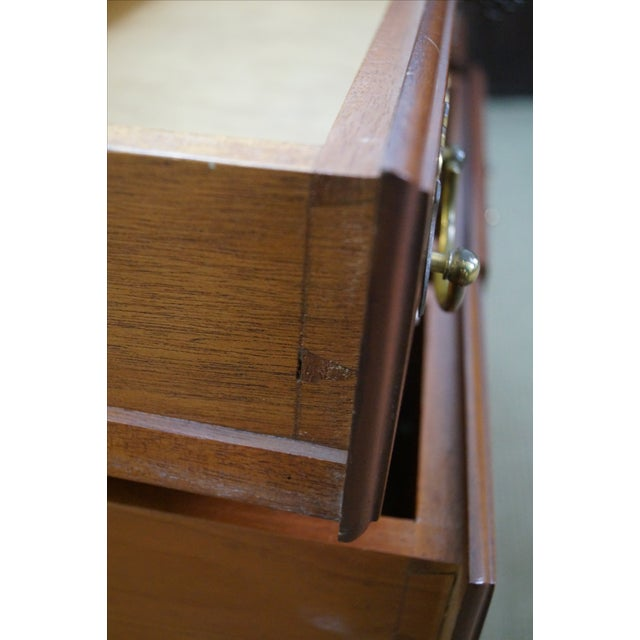 Queen Anne Style Solid Mahogany Low Boy - Image 6 of 10