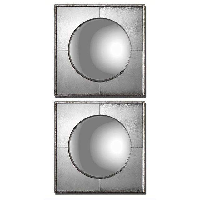 Silver Leaf Wall Mirrors- A Pair - Image 1 of 6