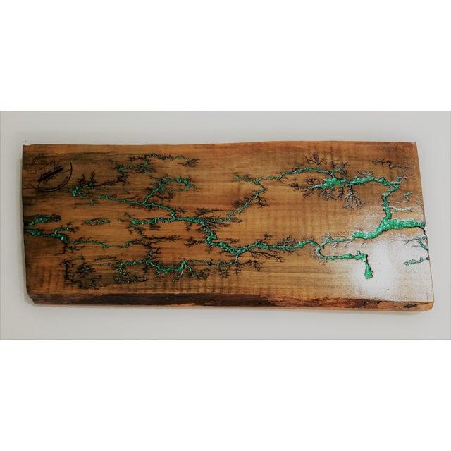 Lichtenberg Fractal Solid Maple Wall Hook Rack Chairish