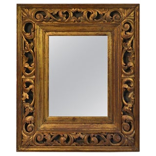 Italian Carved Wood Giltwood Frame For Sale