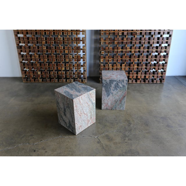 1980s Granite Stone Occasional Tables - a Pair For Sale - Image 11 of 11