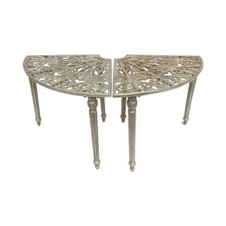 Antique Art Nouveau Circular Park Bench - A Pair For Sale