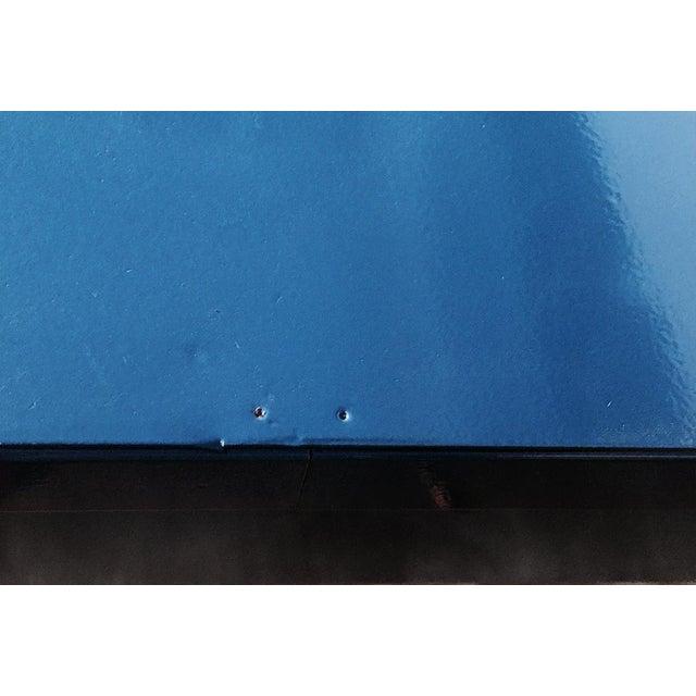 Yawman and Erbe Blue Panel Leg Table - Image 5 of 6
