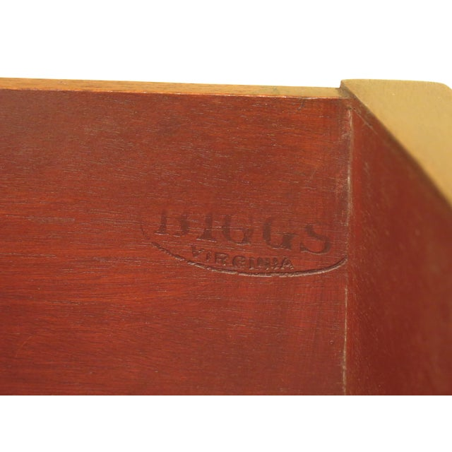 1960s Federal Biggs Inlaid Mahogany 4 Drawer Bow Front Chest For Sale - Image 12 of 13