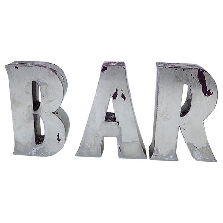 """Vintage English """"Bar"""" Marquee Letters - Image 1 of 4"""