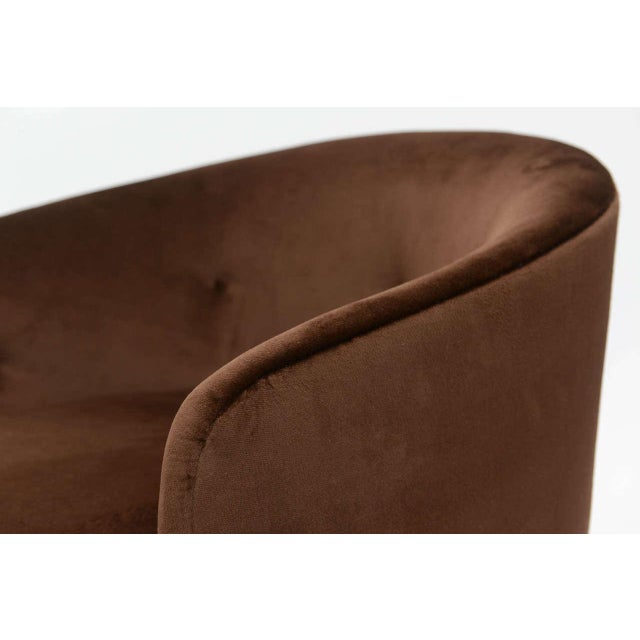 1970s Milo Baughman Barrel Back Chair For Sale - Image 5 of 11