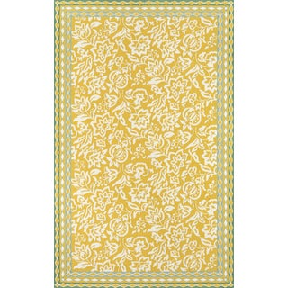 """Madcap Cottage Under a Loggia Rokeby Road Yellow Indoor/Outdoor Area Rug 3'9"""" X 5'9"""" For Sale"""