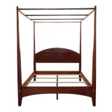 Image of Early American Ethan Allen Pencil Queen 4-Post Bed Frame With Canopy For Sale