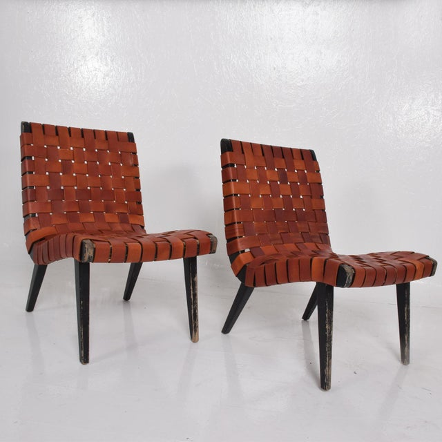 Pair of Jens Risom Lounge Chairs for Knoll For Sale - Image 10 of 12