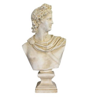 Large Mid Century Modern Bust of Apollo For Sale