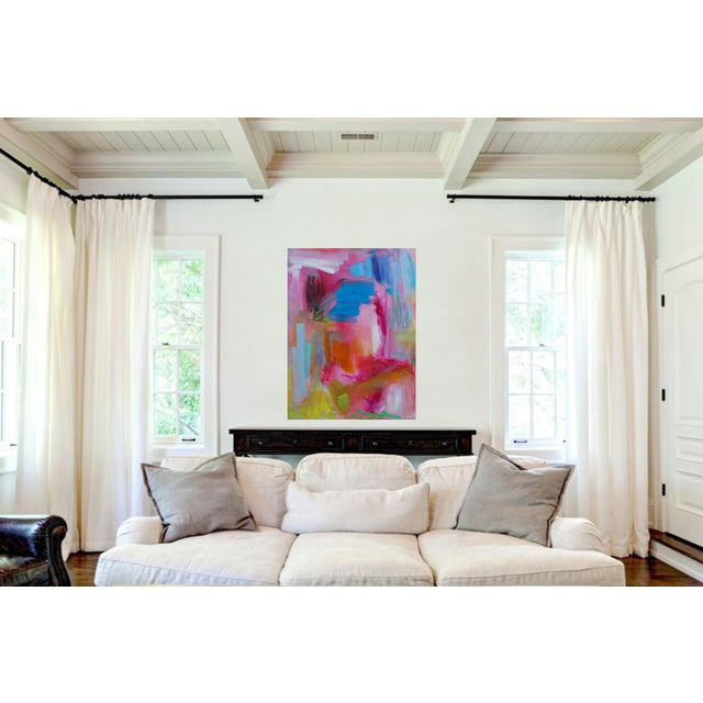 """Abstract Large Abstract Oil Painting by Trixie Pitts """"Florida Feeling"""" For Sale - Image 3 of 10"""