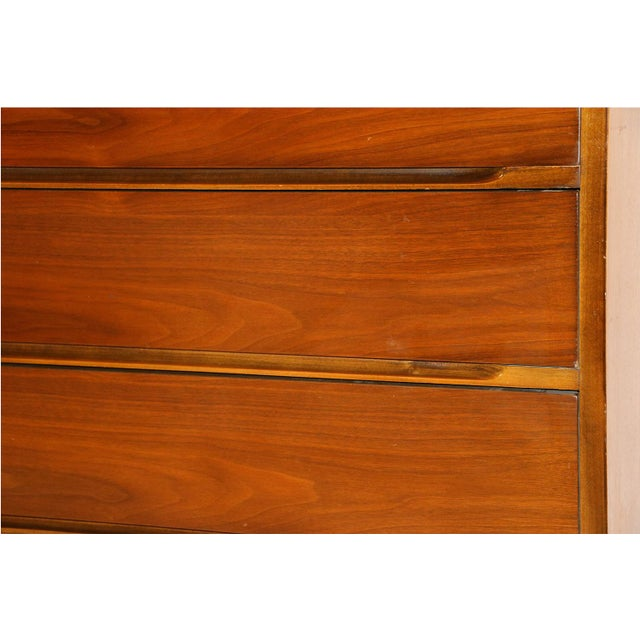 Mid-Century Walnut Chest Nightstands- A Pair - Image 8 of 10