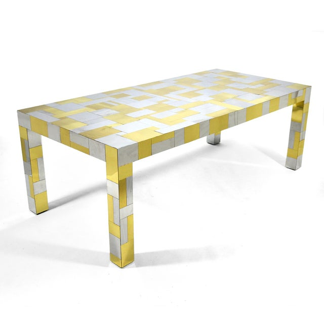 1970s Paul Evans Cityscape Dining Table For Sale - Image 5 of 10