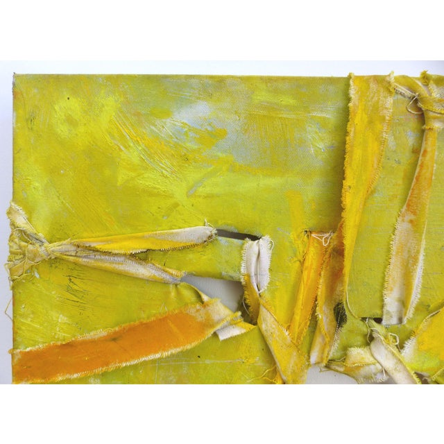 """Alfredo Ulloa """"Pierre (Yellow #1)"""" Abstract Painting - Image 3 of 8"""
