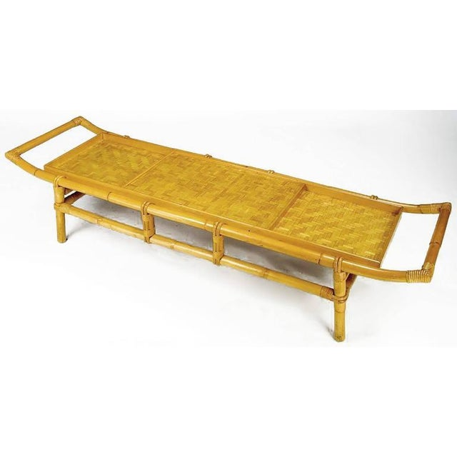 John Wisner Long and Low Pagoda Form Bamboo Coffee Table - Image 2 of 6