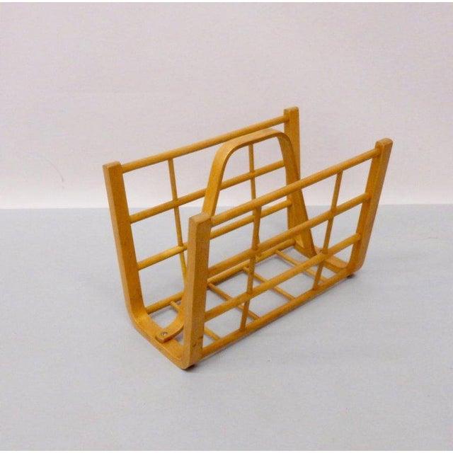 Alvar Aalto Alvar Aalto Attributed Bent Wood Magazine Stand Rack For Sale - Image 4 of 6