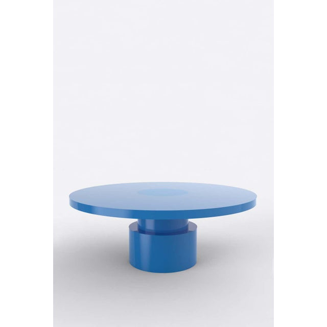 Postmodern Contemporary 100C Coffee Table by Orphan Work, 2020, Blue For Sale - Image 3 of 3