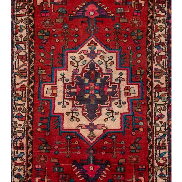 "Apadana - Vintage Persian Hamadan, 3' x 10'4"" - Image 3 of 5"