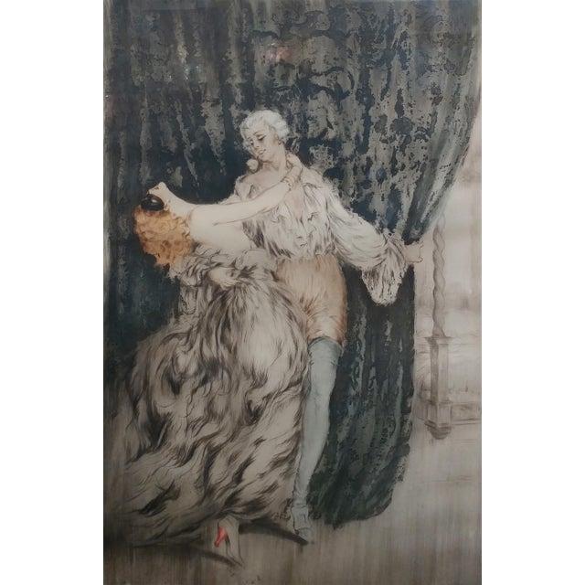 Louis Icart -Casanova - Original 1920s Lithograph -Pencil Signed - Image 3 of 11