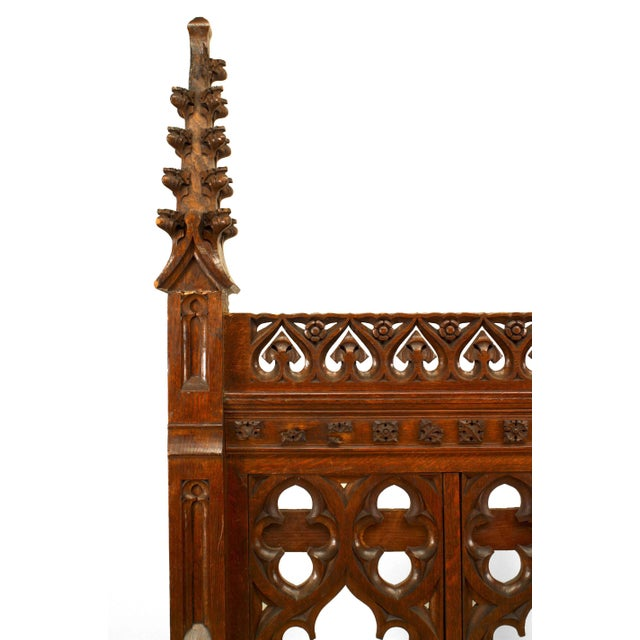 Gothic Pair of 19th Century English Gothic Revival Railing Panels For Sale - Image 3 of 5