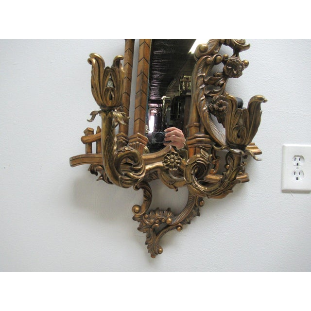 Gold Theodore Alexander Mirror Bronze Wall Sconce Candelabra For Sale - Image 8 of 10
