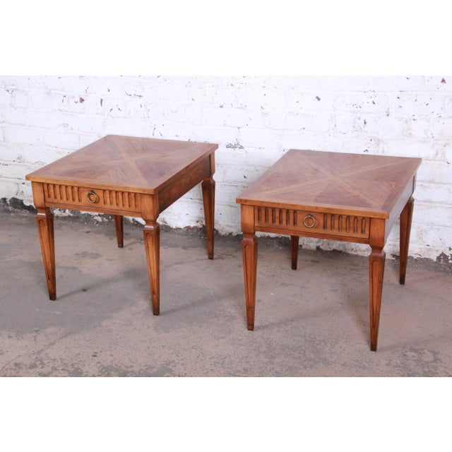Baker Furniture Milling Road French Regency End Tables, Pair For Sale - Image 12 of 12