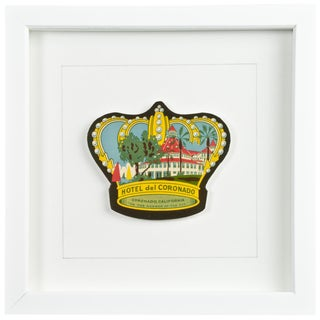Framed Vintage Hotel Luggage Label - Hotel Del Coronado