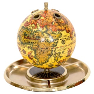 Old World Globe Desk Organizer