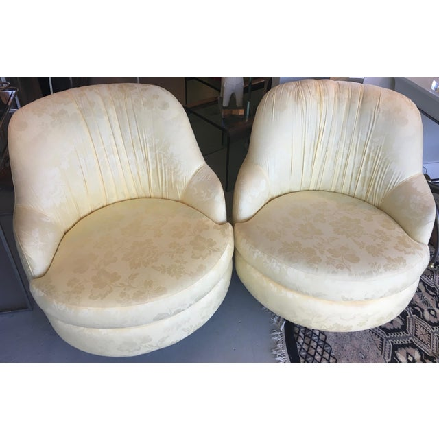 Milo Baughman Mid-Century Swivel & Rocking Slipper Chairs - A Pair - Image 3 of 6