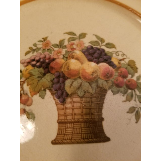 Seller polucy... no bids accepted under $50. Rare fruit basket plate from Europe, my guess is German or Dutch Mettlach or...