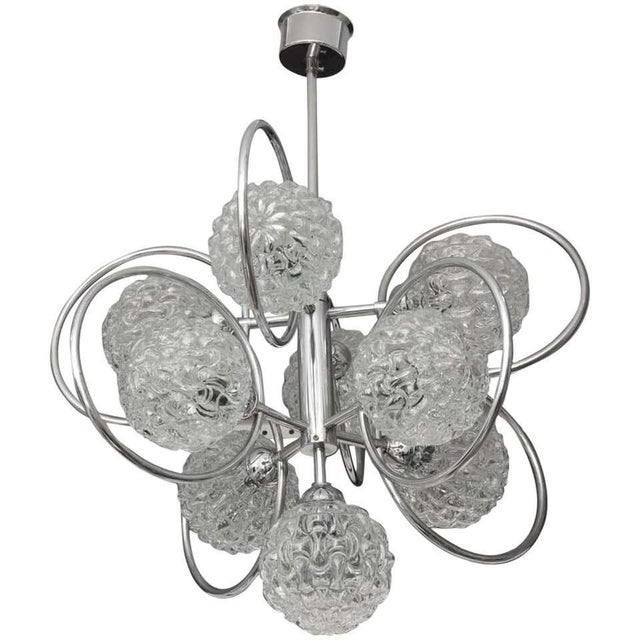 """""""Atomic-Orbital"""" Chandelier in Chrome and Glass For Sale - Image 10 of 11"""