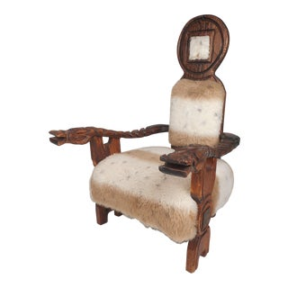 Vintage Primitive Style Witco Lounge Chair For Sale