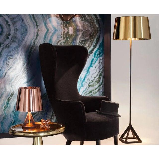 Industrial Tom Dixon Base Floor Light - Polished Brass For Sale - Image 3 of 5