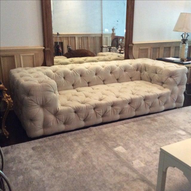 Restoration Hardware Soho Tufted Upholstered Sofa Chairish