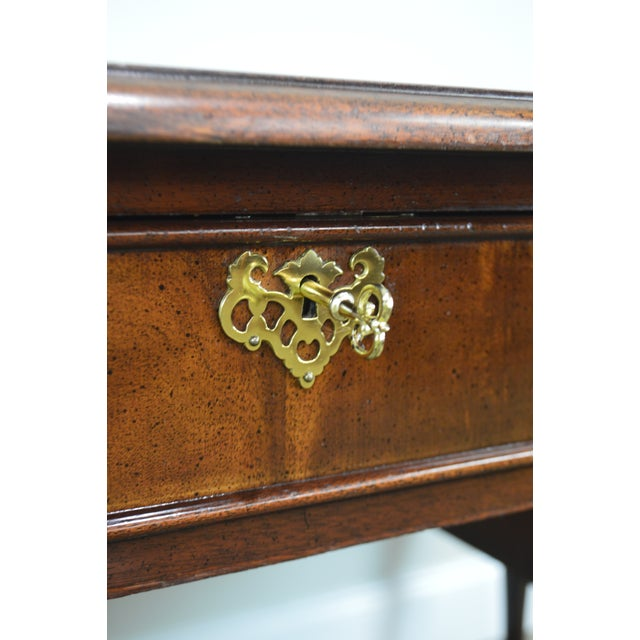Yellow Sligh Chippendale Style Mahogany Ball & Claw Leather Top Desk For Sale - Image 8 of 13