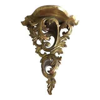 Italian Rococo Gilt Wood Wall Bracket For Sale