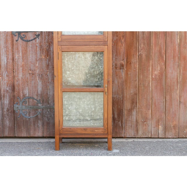19th Century Tall 19th Century British Colonial Glass Cabinet For Sale - Image 5 of 13