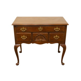 Drexel Vintage Cherry Collection Queen Anne Lowboy Chest For Sale